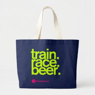 TRAIN.RACE.BEER. Sac fourre-tout à course