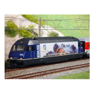 Train rapide suisse carte postale