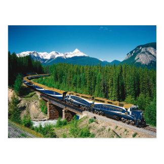 Train rocheux d'alpiniste cartes postales