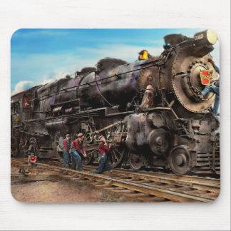 Train - travaillant au chemin de fer 1930 tapis de souris