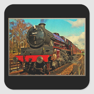 Train vintage de vapeur autocollants