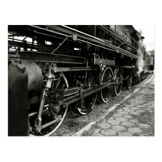 Train vintage de vapeur carte postale