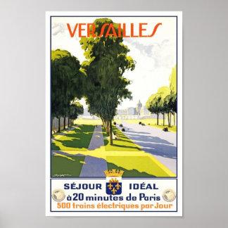 Train vintage de Versailles Paris d affiche de voy