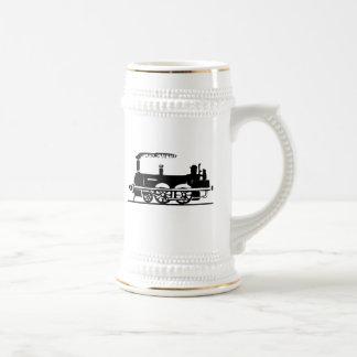Train vintage tasse à café