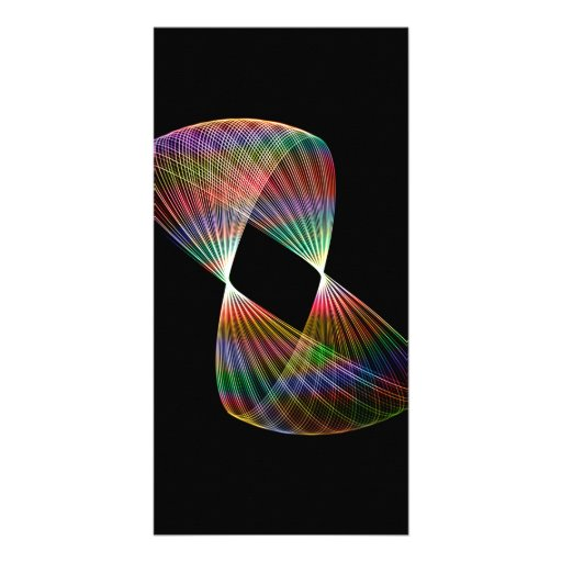 Traînée 2 de lumière de pendule cartes avec photo