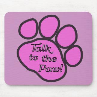 Traînée de chien, entretien à la patte - noir rose tapis de souris
