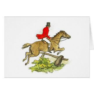 Traînée d'équitation de pullover de chasseur de cartes