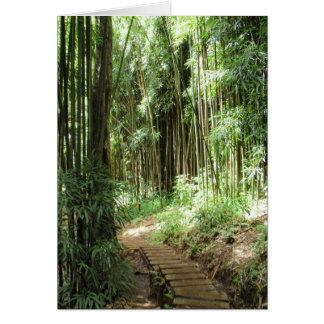 Traînée en bambou carte de vœux