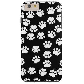 Traînées de chien, motif avec des pattes de chien coque tough iPhone 6 plus