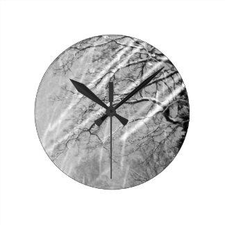 traînées de neige horloges murales