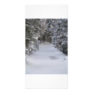 traînées d'hiver photocarte personnalisée