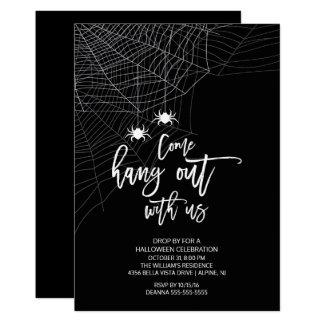 Traînez avec nous la partie de Halloween Carton D'invitation 12,7 Cm X 17,78 Cm