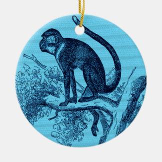 Traînez le singe ornement rond en céramique