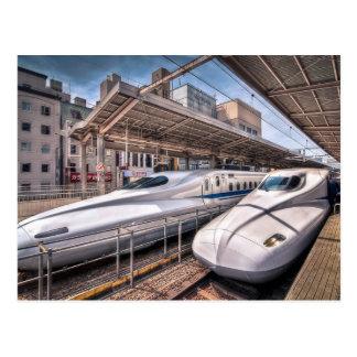 Trains de balle japonais à la station de Tokyo Carte Postale