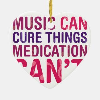 Traitement de musique ornement cœur en céramique