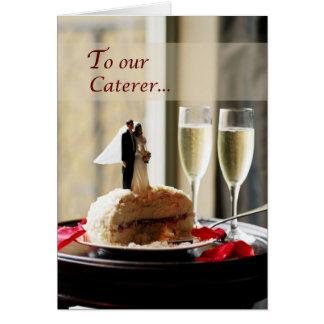 Traiteur de mariage, Merci Carte De Vœux