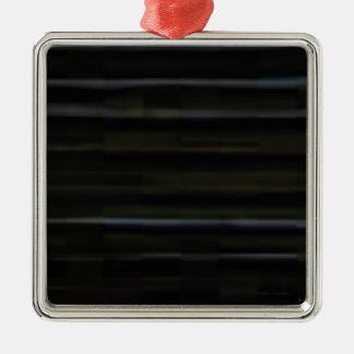 traits horizontaux en bois ornement carré argenté
