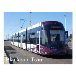 Tram de Blackpool Carte Postale