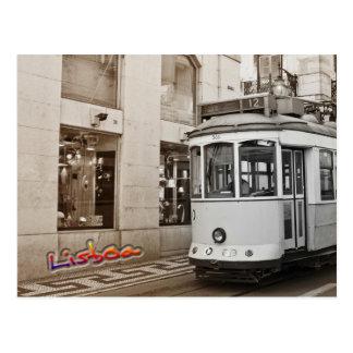 Tram et couleur de Lisbonne Carte Postale