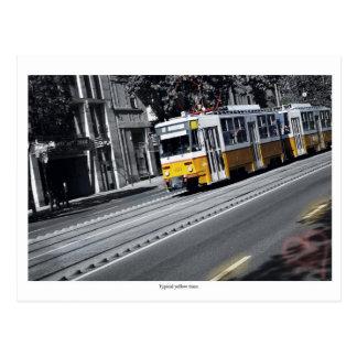 Tram jaune à Budapest Carte Postale