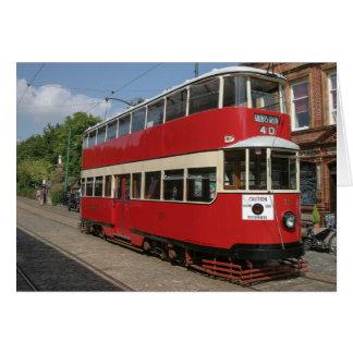 Tram No. de Londres 331 chez Crich Cartes De Vœux