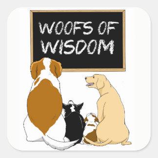 Trames des autocollants de sagesse !