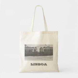 Trams de Lisbonne avec l'écriture Sac En Toile Budget