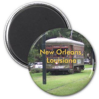 Tramway de la Nouvelle-Orléans Magnet Rond 8 Cm