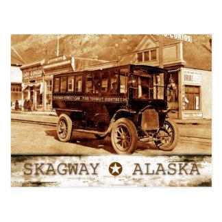 Tramway sur l'avenue de Broadway., Skagway, Alaska Carte Postale