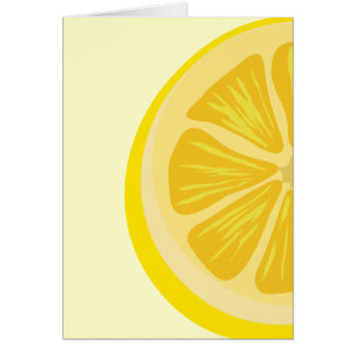 Tranche de carte de citron