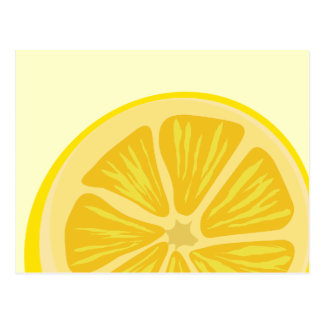 Tranche de carte postale de citron