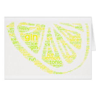 Tranche de citron de genièvre carte de vœux
