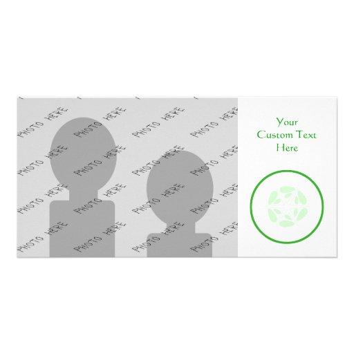 Tranche de concombre. Vert et blanc Carte Avec Photo