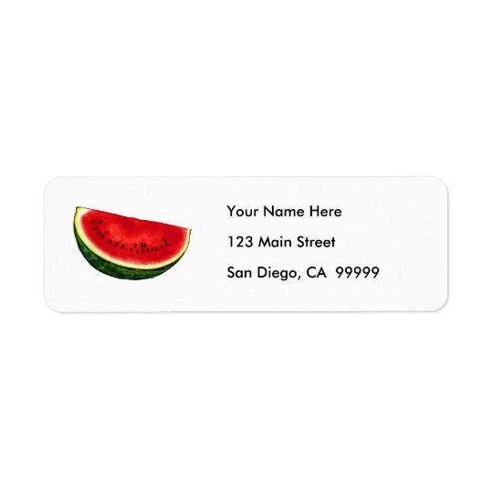 Tranche de pastèque étiquettes d'adresse retour