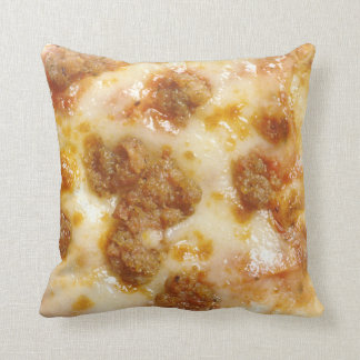 Tranche de pizza coussin décoratif