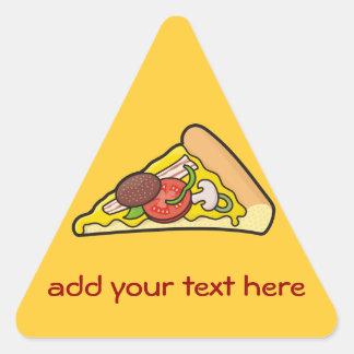 Tranche de pizza sticker triangulaire