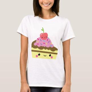 Tranche mignonne de gâteau de crème glacée de t-shirt