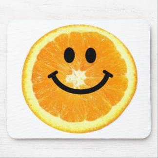 Tranche orange souriante tapis de souris