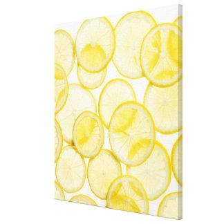Tranches de citron disposées dans le motif éclairé toiles