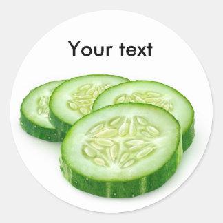 Tranches de concombre sticker rond