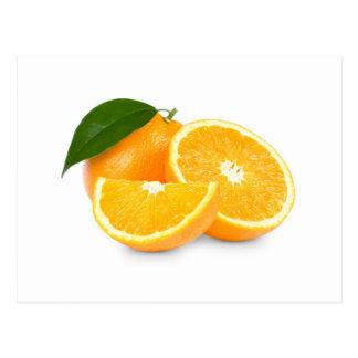 Tranches oranges carte postale