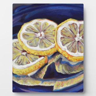 Tranches régénératrices de citron plaque photo