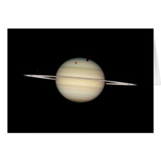 Transit quadruple de lune de Saturn Carte De Vœux