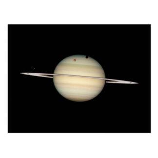 Transit quadruple de lune de Saturn Carte Postale