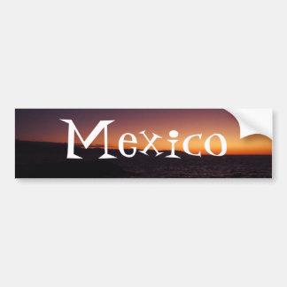 Transition de coucher du soleil ; Souvenir du Mexi Adhésif Pour Voiture
