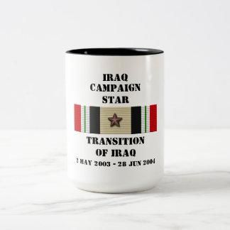 Transition de l'Irak/d'ÉTOILE de CAMPAGNE Mug Bicolore