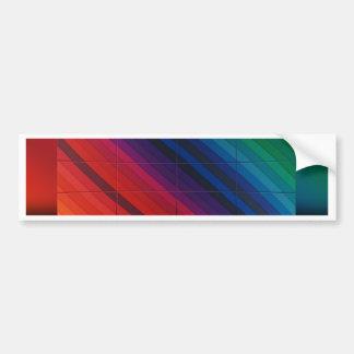 Transition multicolore avec la grille adhésifs pour voiture