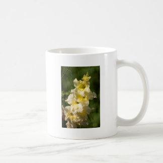 Transitoire jaune de fleur de glaïeul mug