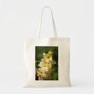 Transitoire jaune de fleur de glaïeul sac fourre-tout