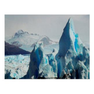 Transitoires de glace dans le glacier andin de carte postale
